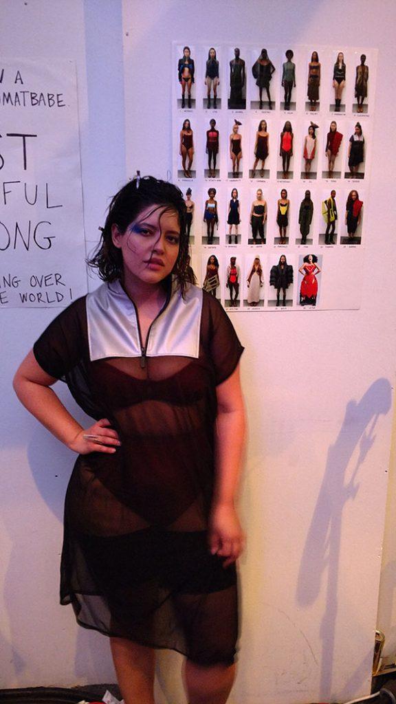 Plus Model Denise Bidot at NYFW in Bandelettes