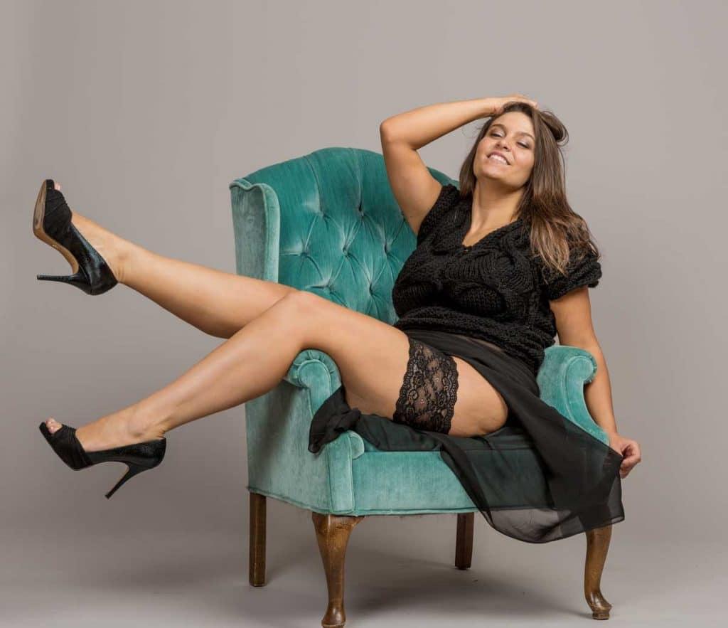 Sitting playfull in all black