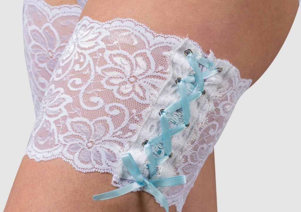 White Dolce thigh band Bandelettes