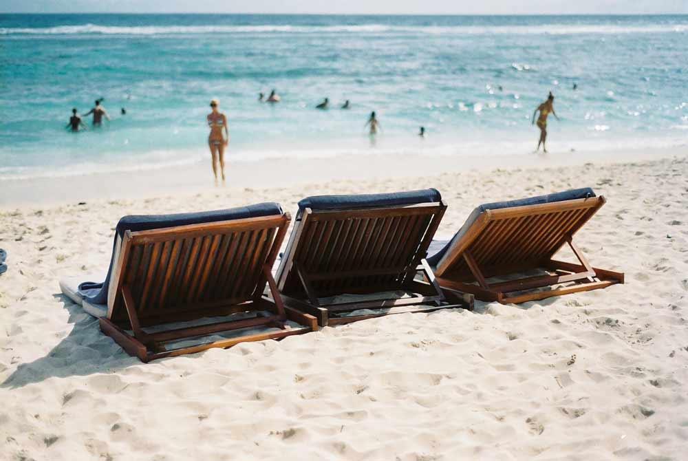Inviting summer beach chairs