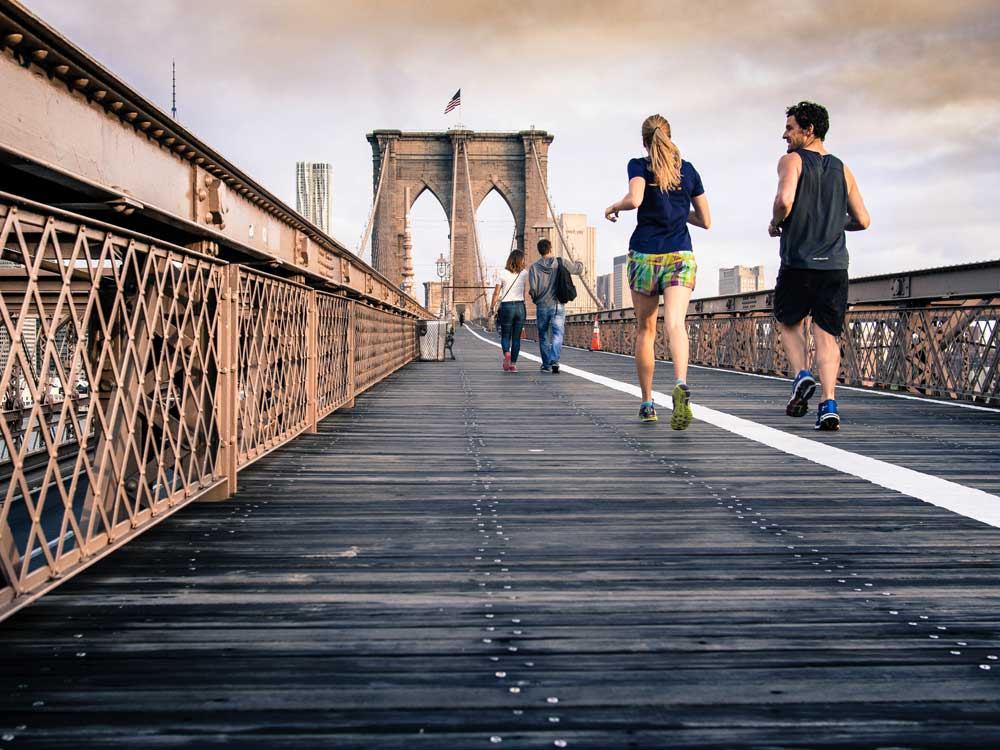 Due to chafing exercise can be a painful thing to do, like running on this bridge