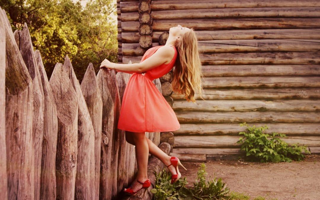body confident women in red dress